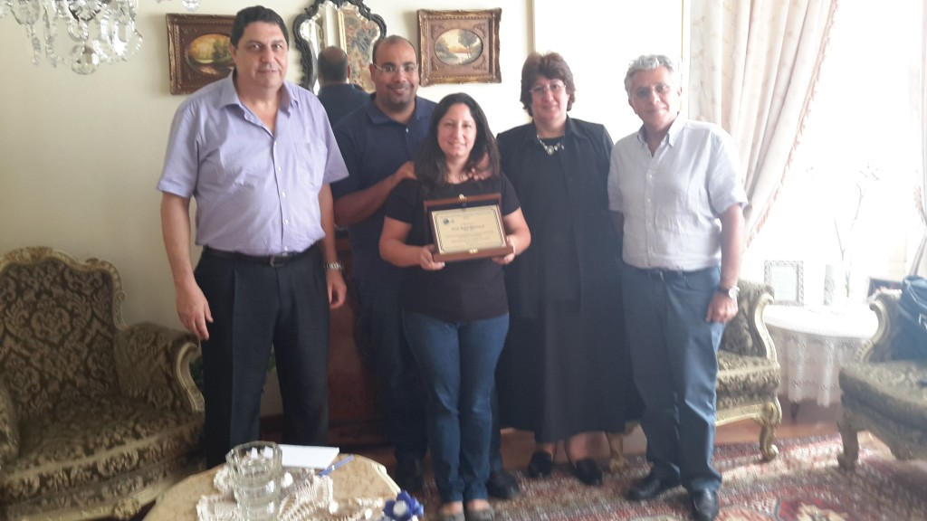(From left to right) Sherif Mawsouf (brother), Daughter's husband, daugther, Mrs Azza (widow) and Dr. Fadi Sabbah